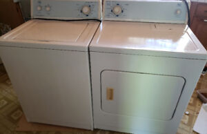 Washer & Dryer $250 each or $400 for both.