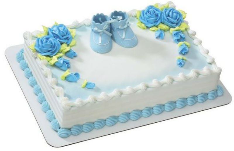 Blue Baby Booties Shower Boy cake decoration Decoset cake to