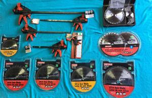 LOTS of Craftsman Tools Saw Blades & Adjustable Bar Clamps