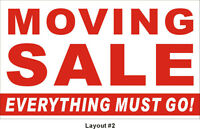 Sat / Sun the 23ed and 24th Moving Sale
