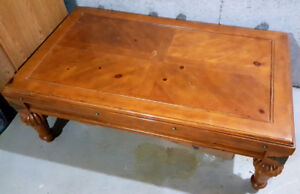 Wooden coffee table in oak finish **GOOD CONDITION**