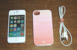 Apple iPhone 4S with Case - NO Passcode or iCloud Lock - Rogers