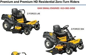 CUB CADET Z-FORCE (heavy duty) start @ $125 a month