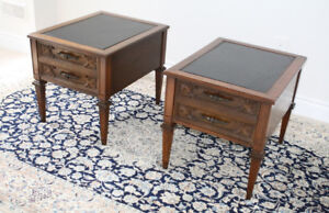 Vintage Twin side tables / end tables / nightstands