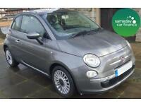 £124.37 PER MONTH 2012 GREY FIAT 500 0.9 LOUNGE TURBO 3 DOOR PETROL MANUAL