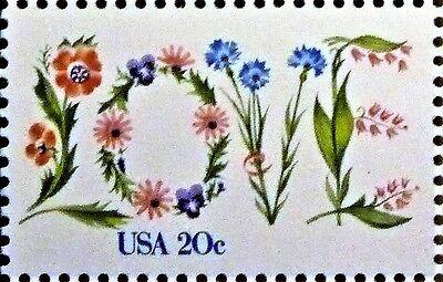 LOVE Fridge Magnet from a Genuine Vintage 1982 US Stamp