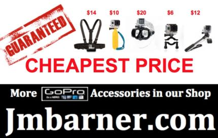 GOPRO ACCESSORIES at CHEAPEST PRICES (For Hero HD 1 2 3 4 SESSION Annerley Brisbane South West Preview