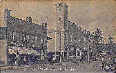 Beecher Falls VT Socony Gas Station Hamel Bros Store RPPC Postcard
