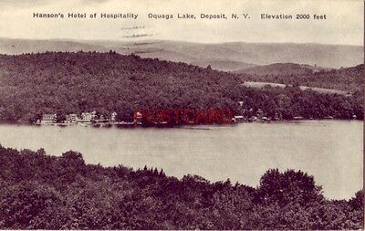1939 Hansons Hotel Of Hospitality  Oquaga Lake  Deposit  N  Y
