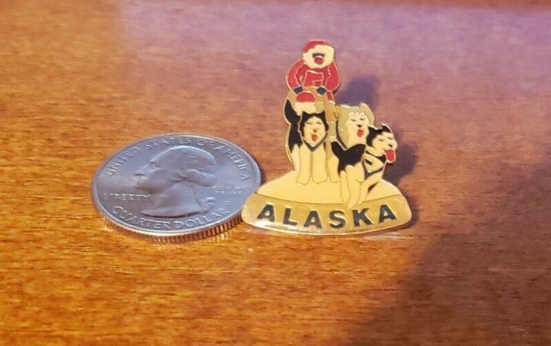 Alaska Mushing Husky Pin