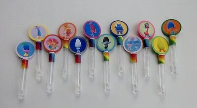 Trolls Dreamwork's Party Favors, Bubble Wands, Birthday party SET OF 10