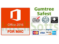 Microsoft MAC Office 2016 Professional with key (Download/Post) / word,excel,outlook etc