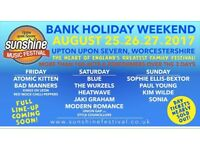 2xSunshine Festival Weekend Camping Tickets