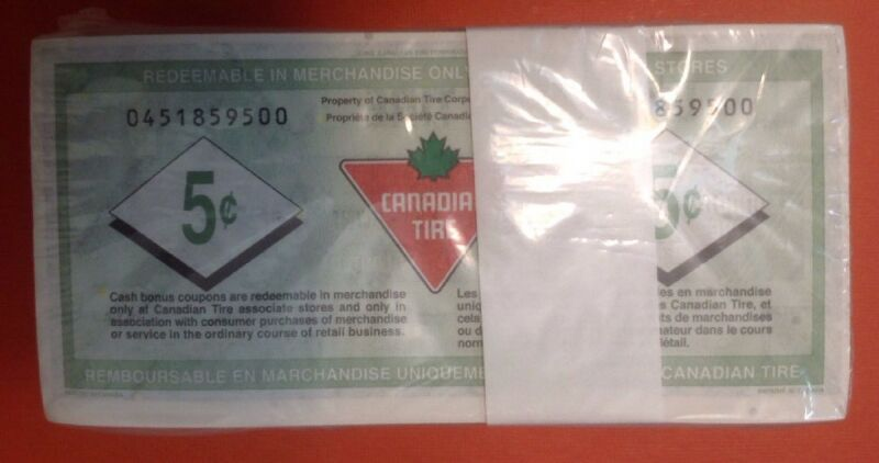 5c Sealed Bundles Canadian Tire 500 Pieces From The Mint Free Combined Shipping
