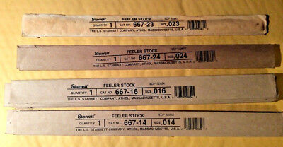 Starrett Feeler Gage Stock 667 Total Of 27 Pieces