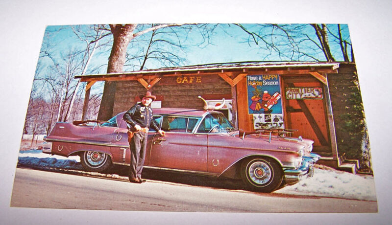 Frontier City MANSFIELD INDIANA Postcard TEX TERRY Cowboy Hollywood Western