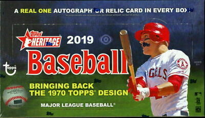 2019 Topps Heritage Baseball Complete 400 Card Base Set (1-400)