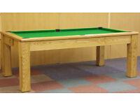 Pool Table Diner / Oak Dining Pool Table