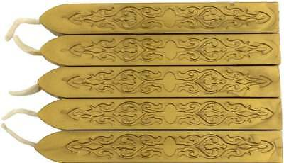 Gold Sealing Wax (with wick) - 10 Sticks