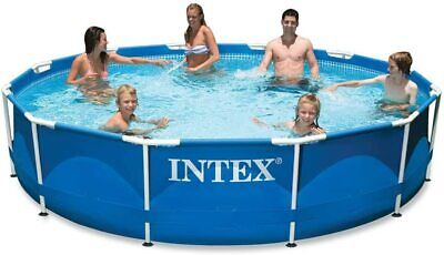 """INTEX 10' x 30"""" METAL FRAME ABOVE GROUND POOL WITH FILTER PUMP NEW*"""