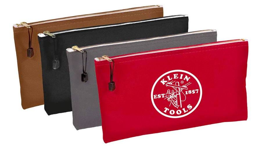 Klein Tools 5141 Zipper Bags-Canvas, 4-Pack