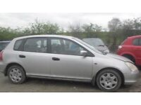 BREAKING 2001 HONDA CIVIC 1.6 PETROL -- NO TEXTS PLEASE - NEWRY / ARMAGH