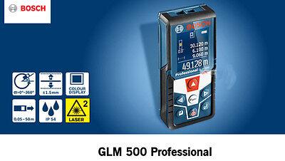 Bosch Glm 500 Laser Distance Meter 165ft 360-deg Ip54 -1.5mm Accuracy 1.7