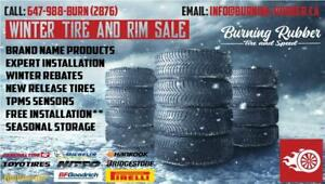 Burning Rubber Tire and Speed - Audi A4 / S4 / A4 Allroad Alloy Winter Tire Rim Package (4 RIMS/4 TIRES)