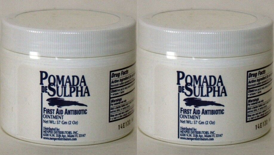 2 pack Pomada de Sulpha Neomycin Sulfate Ointment First Aid Antibiotic SULFATIA