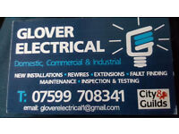 Glover Electrical. Local reliable and affordable electrician. Free estimates. No job too small.