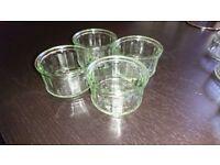 Assorted glass ramekins