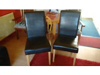 Pair of dining chairs - £80