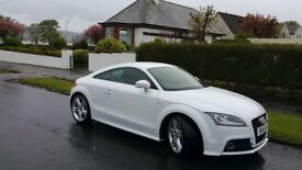 Audi TT S line TFSi 1.8 3 door, low mileage, white, 6 speed - REDUCED PRICE