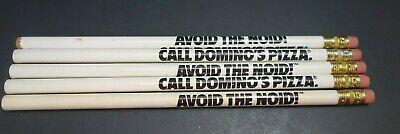 Vintage Avoid The Noid  Pencil Lot of 5 Call Dominos Pizza 1980's Advertising