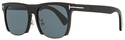 Tom Ford Rectangular Sunglasses TF550K 01A Black/Gold 56mm (Tom Ford Sunglass)