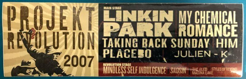 Projekt Revolution 2007 Long Promo Sticker Linkin Park My Chemical Romance