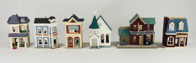 Hallmark Nosalgic Houses and Shops Christmas Ornaments Lot of 6