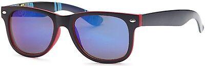 Men Women Unisex Retro Mirror Lens Graphic Print Beach Sunglasses (Vivid Sunglasses)