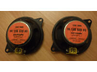 Two small 18W 10cm diameter audio speakers