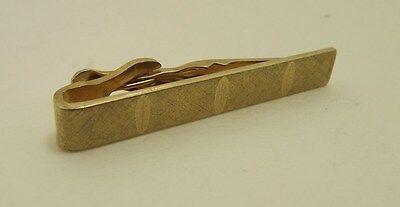 Genuine Gold Tone Diamond Cut Satin Finish Tie Bar Tie Clasp