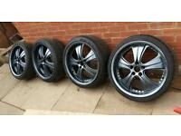 "20"" BMW M SPORT Mania Deep Dish Alloys 3 5 6 7 Series 5x120 E60 E61 E63 E90"