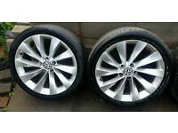 "18"" Genuine VW Scirocco Alloys 5x112 Passat CC Golf GTi R R32 Audi Seat Skoda"