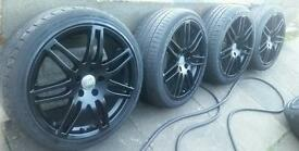 "Replica 18"" Audi S Line Black Edition Alloys 5x112 Fit A3 A4 A6 VW Golf mk5 Passat Seat"