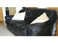Sofa 2 seater 100% leather black