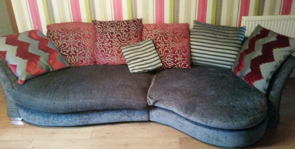 Dfs Large Sofa And Cuddle Chair Footstool In Kelty