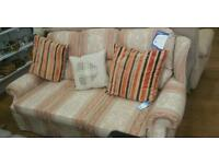 Patterned 3 seat sofa bed