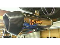Toro exhaust for lexmoto Adrenaline / Sunnis Apache / pulse / superbyke