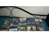 Ps3 slim with 16 games and all the wires