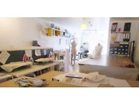 Desk and Fashion Studio Space for Creative Business - To rent