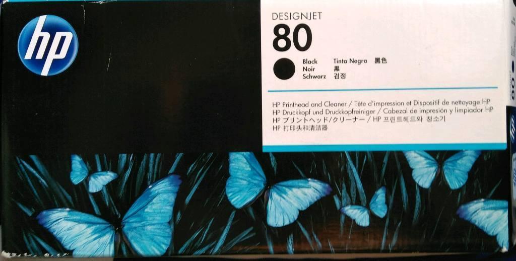 HP 80 Genuine Black Printhead & Cleaner Ink